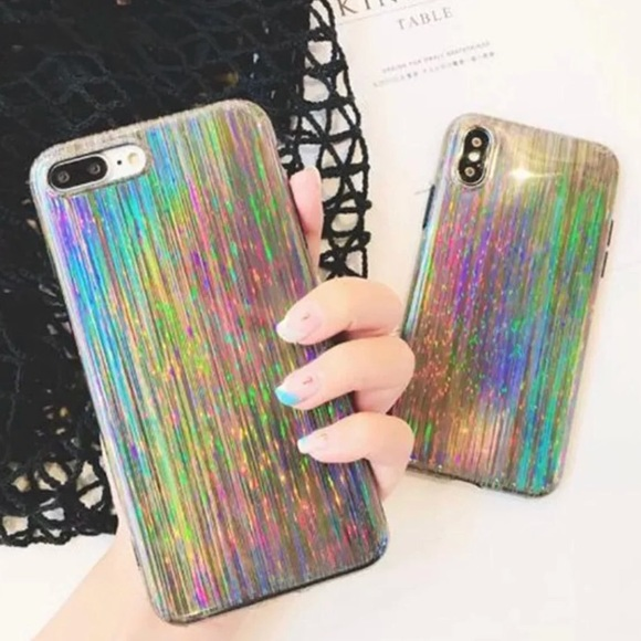 best sneakers 546f9 e40fb Holographic iPhone 8 Plus Case 7 Plus 8+ 7+ NWT